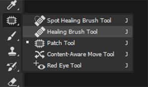 healing brush tool in phootshop
