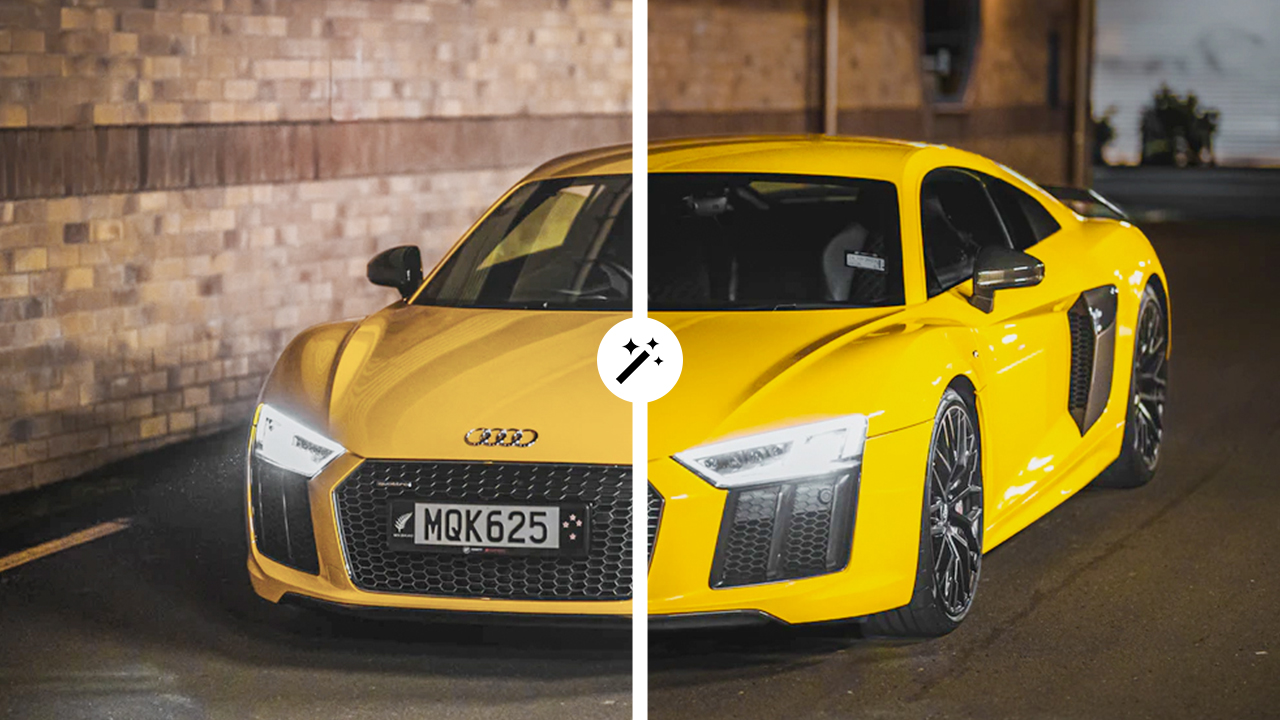 automotive photography before after