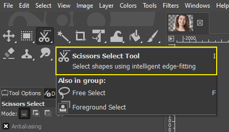 Scissors Selection Tool